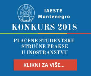 IASTE Crna Gora konkurs 2018
